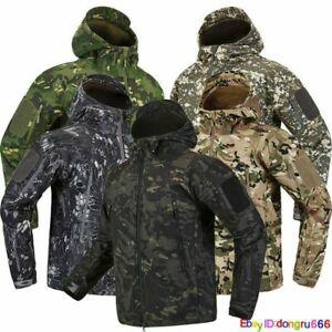 New ESDY Shark Skin Soft Shell Men's Outdoors Military Tactical Coat Jacket *