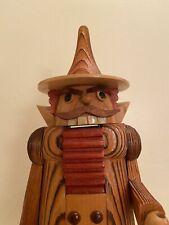 German Original Quality Nutcracker Wooden Man Black Forest Moustache Germany