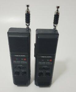Realistic TRC-214 Stranger Things Walkie-talkie Pair 3-channel CB Vintage~WORK!