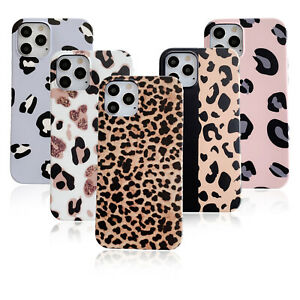 Lady Slim Leopard Soft Rubber Case Slim Cover For iPhone 12 11 Pro Max XR