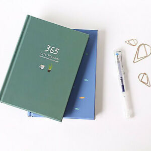 Cute List Diary Notebook 365 Days Daily Monthly Yearly Planner Hardcover Journal