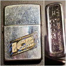 Retired Budweiser Ice Draft Zippo Lighter 1995 D Xi matching Insert