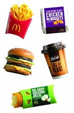 2013 MCDONALD'S MINI Food COFFEE FRIES MCNUGGET BIG MAC APPLE PIE MAGNET Boys 5+