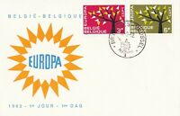 EU38) Belgium 1962 - Europa Stamps On First Day Cover