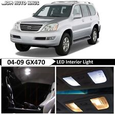 White Interior LED Light Bulb Replacement Package Kit Fits Lexus GX470 2003-2009