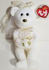 "TY Beanie Babies ""HERS"" Wedding Bride Teddy Bear - MWMTs! GREAT GIFT! Ty Store!"