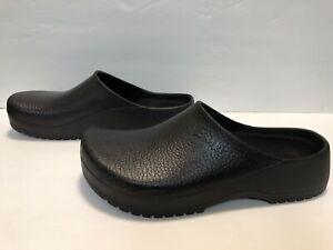 BIRKENSTOCK Super Birkis  Black Rubber Clogs Comfort Slip Resistant Sz 14