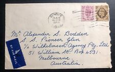1948 Dundee England Airmail Cover To Melbourne Australia
