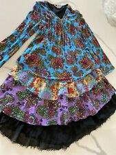 Nolita Pocket Girls dress size 12 youth floral with black accents