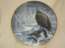 Winter In The Valley collector plate Bald Eagle John Pitcher Hamilton Seasons