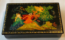 "Vintage PALEKH Russian Lacquer Box ""FIREBIRD""Fairy Tale Artist Numbered & Signed"