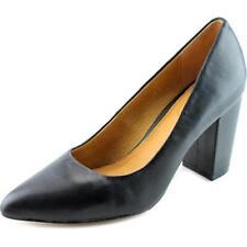 Zapatos de tacón de mujer de tacón medio (2,5-7,5 cm) de color principal negro de piel