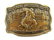 1988 Great American Rodeo Saddle Bronc Riding Belt Buckle 11012013
