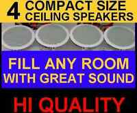 "(4-PACK)  CEILING / IN WALL - 6.5""  HI QUALITY SPEAKERS GREAT STEREO SOUND (4x)"