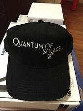 OMEGA Quantum Of Solace 007 Black BASEBALL CAP NEW- ONE SIZE FITS ALL *LOT Of 3