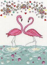 BOTHY THREADS  XKA9  Love Flamingo  Broderie  Point de croix  Compté