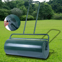 Lawn Roller Water or Sand Filled Push Tow Behind Roller 24-Inch x 13-Inch Green