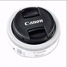Canon EF 40mm F2.8 STM Pancake White Digital Photograph Camera Lens Bulk package