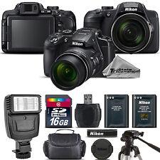 Nikon COOLPIX B700 Digital 20.2MP 4K Video WiFi NFC Camera 60x Zoom - 16GB Kit