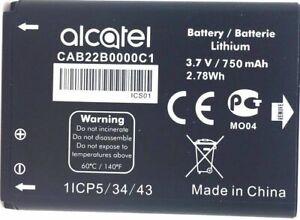 GENUINE ALCATEL CAB22B0000C1 BATTERY for ALCATEL  OT-665 OT-665X OT-356   750mAh