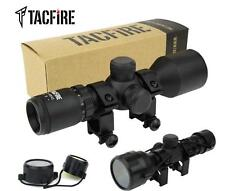 TacFire Compact 3-9X42 P4 Sniper Reticle Rifle Scope with Rings & Lens Covers
