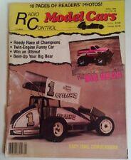 Radio Control Model Cars Mag Vtg April 1988 RARE VHTF Ads! Reedy Big Bear Ultima