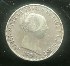 1854 Spain 10 Reales - Scarce