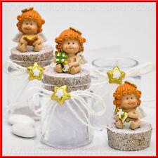 Porta confetti vetro tappo sughero angioletto per bomboniere battesimo comunione