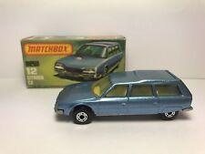 VINTAGE 1979 MATCHBOX SUPERFAST #12 CITROEN CX BY LESNEY