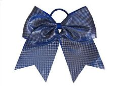 "NEW ""SPARKLE DOTS Royal Blue"" Cheer Bow Pony Tail Ribbon Hair Bows Cheerleading"