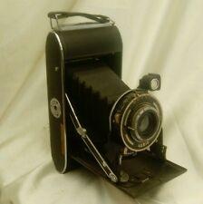VINTAGE Ensign Selfix 420 Pieghevole Fotocamera Con Custodia Originale marrone + istruzioni