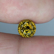 2.38 cts_Golden Yellow Hue_Round Cut_Africa_Natural_Grossular_BC1630
