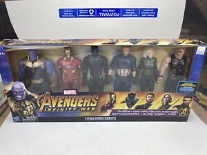 """Marvel Avengers Infinity War Titan Hero 12"""" Assembled Collection Figures 6 Pack"""