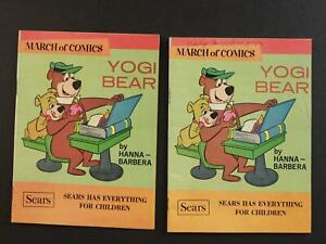 LOT of TWO 1968 MARCH OF COMICS~ YOGI BEAR by Sears~