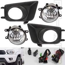 Fit 2012 2013 2014 2015 Toyota Tacoma Fog Light Kit w/ Bezel & Wiring