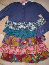 (854) Süßes Nolita Pocket Girls Materialmix Kleid + Volants & Logo Druck gr.140