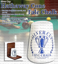 Billiard Sliver Cup Cone Chalk Indoor Sport Pool Hand Talc Snooker Accessory Whi