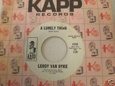 Leroy Van Dyke Kapp 908 DJ One Minute More of Lonely