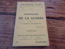 WWI - CHRONOLOGIE DE LA GUERRE 3EME VOL 01 JUIL 31 DEC 1915 PAGES D HISTOIRE