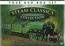 STEAM TRAIN CLASSICS COLLECTION 4 DVD BOX SET CITY OF TRURO FLYING SCOTSMAN MORE
