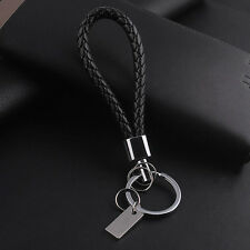 1pcs New Fashion Men Leather Key Chain Ring Keyfob Car Keyring Keychain Gift