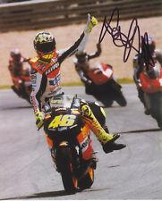 MotoGP Legend VALENTINO ROSSI Signed REPSOL HONDA Colour Photo