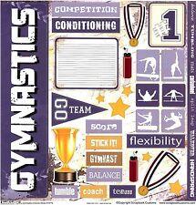Stamping Station - GYMNASTICS Extreme 12x12 Scrapbooking Sticker 19776