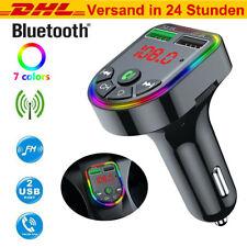 Bluetooth FM Transmitter Auto MP3 Player Dual USB KFZ RGB AUX Freisprechanlage