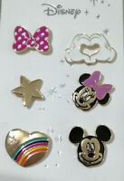 Mickey Minnie Mouse Pin Badges 6pk Disney Official BNWT