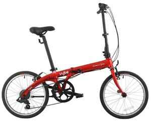 """Dahon 20"""" Vybe D7 Lightweight Aluminum Folding 7-Speed Bicycle Bike Red NEW"""
