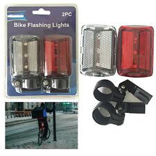 2pc Bicicleta Luces Intermitente LED Brillante Luz Reflector Broche Ciclismo De