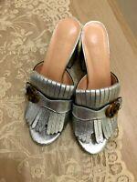 Women's shoes - Gucci-  marmont sandals - fringe - 40