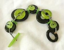 Funky ORNA LALO Resin Lime Green and Black Bracelet