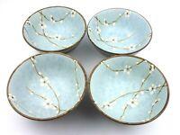Studio Pottery Stoneware Prunus Bowls Set of Four